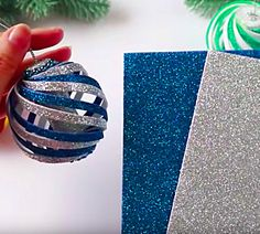 Learn to make these cheap easy DIY Foam Swirl Christmas ornaments from Michael's Craft Store Foam Christmas Ornaments, Easy Ornaments, Christmas Crafts For Adults, Christmas Card Crafts, Homemade Ornaments, Ornament Crafts, How To Make Ornaments, Christmas Decorations, Dough Ornaments