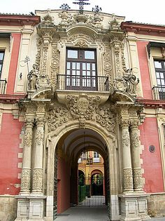 Rococo in Seville, Spain Spain Places To Visit, Stairs And Doors, Bay Of Biscay, Andalucia Spain, Seville Spain, Basque Country, Classical Architecture, Spain Travel, Rococo