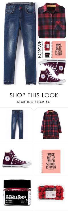 """""""Romwe 9"""" by scarlett-morwenna ❤ liked on Polyvore featuring mode en Converse"""