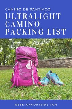 My ultralight Camino packing list Travel trail canyon de Santiago hiking trails crest trail Camino Walk, Camino Trail, The Camino, Camino Portuguese, Backpacking Checklist, Lightweight Sleeping Bag, Travel Photographie, Ultralight Backpacking, Backpacking Food