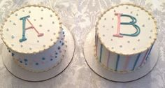 gender reveal cakes twins | Found on twin-mommy-blog.blogspot.com