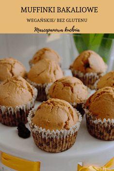 Muffinki bakaliowe: wegańskie, bezglutenowe – Marcepanowa kuchnia Polish Recipes, Vegan Recipes, Vegan Food, Grilling, Food And Drink, Gluten Free, Cupcakes, Breakfast, Diet