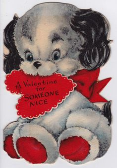 Vintage 1950's A Valentine For Someone Nice by poshtottydesignz