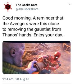 thats cold. something i DONT WANNA BE REMINDED OF UNLESS ITS THEY DID TAKE IT OFF NOT ALMOST Marvel Memes, Marvel Funny, Marvel Avengers, Marvel Dc Comics, Infinity War, Spiderman, Batman, Marvel Cinematic Universe, Peter Quill