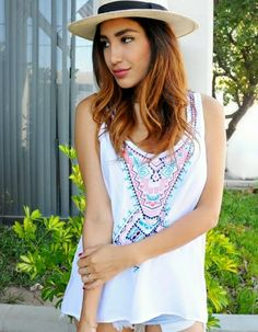 This tribal tank is perfect for pulling off a boho look in the warmer weather #scottsmarketplace