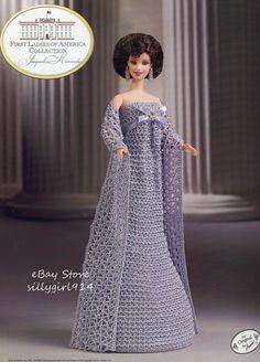 """KENNEDY""~Crochet PATTERN fits BARBIE FASHION DOLL~Annie's FIRST LADIES"