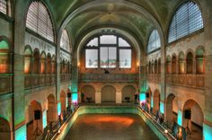 The Main Hall and Swimming Pool at Stadtbad Prenzlauer Berg, Berlin So…
