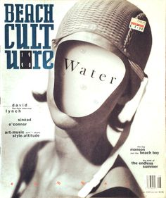 david carson design Beach Culture Magazine  (blank face wearing a helmet)