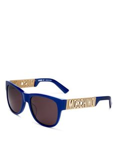 4e8361b4a34 Moschino Women s Cutout Logo Rectangular Sunglasses