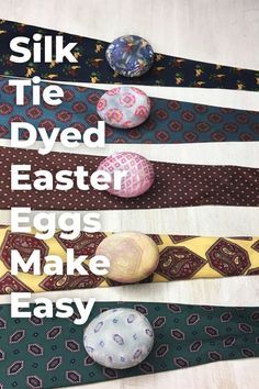 Newest Photo Silk 'Tie' Dyed Easter Eggs- Easter egg ideas DIY. Learn how to decorate your Ea. Strategies For this simple tank top dress, I chose to use a black color, a dime color, and a bordeaux. I belie Tie Dyed Easter Eggs, Easter Peeps, Diy Osterschmuck, Easy Diy, Diy Crafts, Easter Crafts, Holiday Crafts, Thrift Store Crafts