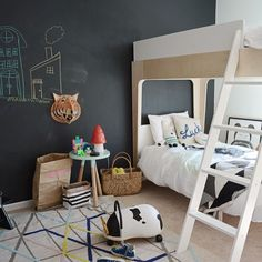 Oeuf Perch Bunk Bed modern design nurseries baby cribs kids rooms inspiration children's furniture