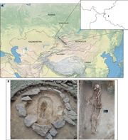 Strong genetic admixture in the Altai at the Middle Bronze