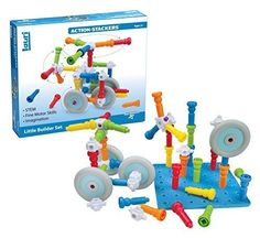 Lauri Toys Action-Stackers Little Builder Set