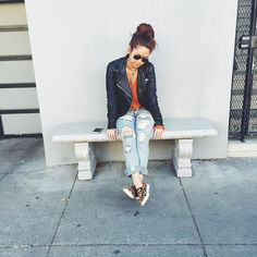Peaches in the Nasty Gal Denim - The Distress Less Slim ||   Get the jeans: http://www.nastygal.com/clothes-bottoms-denim/nasty-gal-denim--the-distress-less-slim  #nastygalsdoitbetter : https://instagram.com/xoprettyinpeach