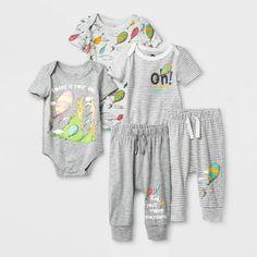 Seuss Bodysuits and Pants Set Newborn, Kids Unisex Grey Bodysuit, Striped Bodysuit, Long Sleeve Bodysuit, Gerber Baby, Tutus For Girls, Organic Cotton, Fashion Outfits, Bodysuits, Pants