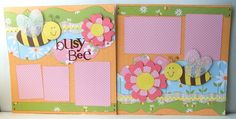 Busy Bee Premade 2 Page 12x12 Scrapbook Layout. $14.95, via Etsy.