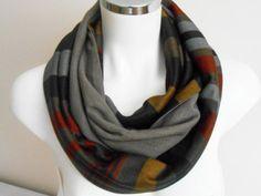 Men scarf, Striped scarf men, Men infinity scarf, Soil color scarf, Unisex scarf, Brown Beige Gray scarf, Male loop scarf, Winter men scarf