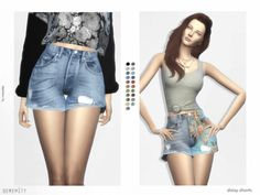 Daisy shorts for The Sims 4