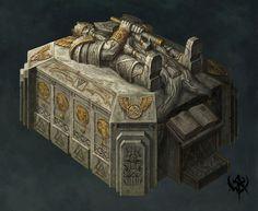 Dwarven sarcophagus concept - Warhammer fantasy world