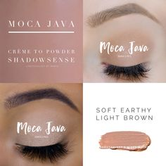 Moca Java ShadowSense is a soft brown eyeshadow. ShadowSense is a crème to powder formula that goes on as a crème and dries to powder. It is long lasting and water resistant eyeshadow. Senegence Makeup, Senegence Products, Makeup Collage, Beauty Makeup, Eye Makeup, Shadow Face, Shadow Sense, Brown Eyeshadow, War Paint