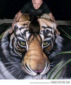 One of the most amazing body paintings