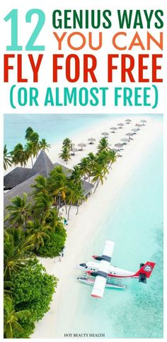 Wondering how to travel the world for free? Looking for an international experience this spring or summer but don't have the cash to splurge? Here are 12 tips on how you can fly for free to anywhere in the world! Hot Beauty Health #traveltips #flyforfree #vacation #springbreak #summertravel #freeairfare