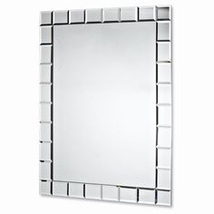 Add a little elegance to hallways, bedrooms and living rooms with this lovely checked-bordered mirror. Watch fractals of light dance when the light hits the border! Unique Mirrors, Luxury Apartments, Bed & Bath, Home Renovation, Home Organization, Decorating Tips, Wall Decor, Glass, Wall Mirror