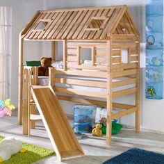 Kylie Single Mid Sleeper Bed with Slide Zoomie Kids.