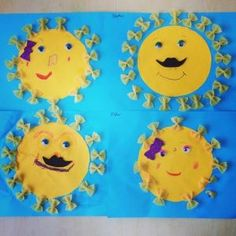 Sun craft ideas for preschoolers - Sun Crafts, Fall Crafts For Kids, Spring Crafts, Projects For Kids, Crafts To Make, Arts And Crafts, Sunshine Crafts, Jr Art, Paper Plate Crafts