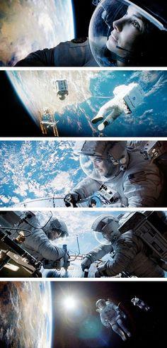 Sandra Bullock & George Clooney in Gravity (2013)