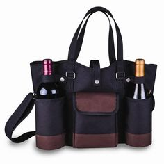 Insulated Two Bottle Wine Tote W/cheese Service