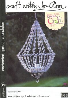 Enchanted garden chandelier.... pretty sure I have an old hanging basket frame in the shed!