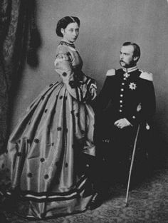 """Crown Prince Ludwig and Princess Alice of Hesse (Darmstadt) and By Rhine. """"AL"""""""