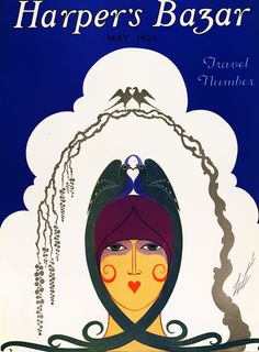 Harper's Bazar . Saul Bass, Art Nouveau, Journal Vintage, Erte Art, Vintage Vogue Covers, Pop Art, Art Deco Artists, Magazine Art, Magazine Covers