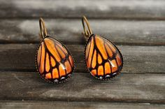 Hey, I found this really awesome Etsy listing at https://www.etsy.com/listing/156725659/monarch-butterfly-earrings-butterfly