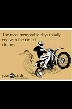 SO true. I am always the dirtiest at the end of the day haha