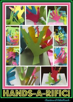 Elementary Art project with hand tracings