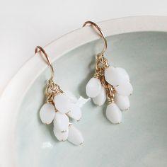 gretel in white earrings