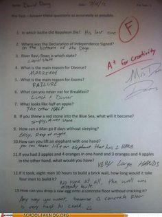 homework class test