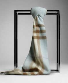 Burberry Light Blue Giant Cashmere Scarf [BF12] - $128.00 : Authentic Burberry Scarf Sale:High Quality And Lower price