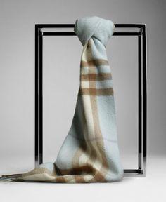 Burberry Light Blue Giant Cashmere Scarf - $125.00 : burberry scarf, burberry scarves
