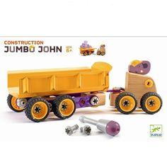Drewniana skręcana ciężarówka Słoń Djeco DJ06696 » Zabawki Auta, pojazdy