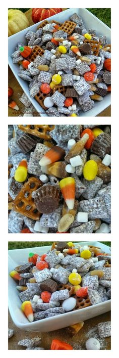 Halloween Party Puppy Chow – The Baking ChocolaTess halloween snacks recipes Halloween Tags, Halloween Desserts, Halloween Party Snacks, Halloween Foods, Halloween Puppy, Halloween Ideas, Halloween Baking, Healthy Halloween, Halloween Trail Mix Recipe