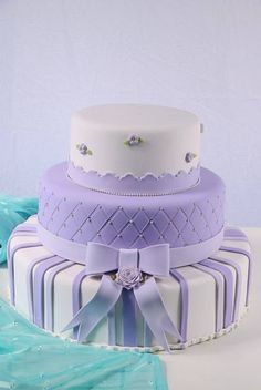 Girly Cakes, Purple Cakes, Bolo Sofia, Baby Dolls For Kids, Quinceanera Cakes, Pastry Cake, Baby Shower Cakes, Amazing Cakes, Wedding Cakes