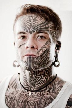 Amazing-Tribal-Tattoo-on-Face