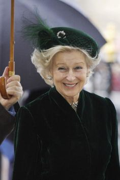 Princess Alexandra, The Hon. Lady Ogilvy. A cousin to Queen Elizabeth II. (this shade of green is to die for.  and velvet no less CLW)