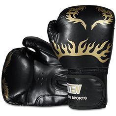 RUNACC Boxing Gloves Punching Mitts Training Gloves Punching Bag Mitts with Dragon Pattern Design for Children and Adult *** You can get more details by clicking on the image. (This is an affiliate link) #OtherSports