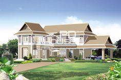 แบบบ้าน W-220, บ้าน 2 ชั้น, ห้องนอน 3 ห้อง, ห้องน้ำ 3 ห้อง, ที่จอดรถ 2 คัน, พื้นที่ใช้สอย 288 ตารางเมตร, ขนาดที่ดิน 126 ตารางวา, กว้าง 24 เมตร, ยาว 21 เมตร