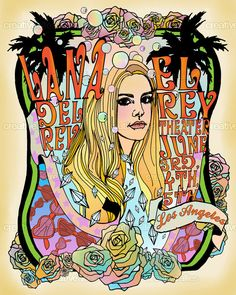 Lana Del Rey Poster by Thunderbird & Lightfoot on CreativeAllies.com