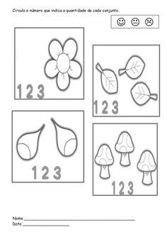 Circula o número que indica a quantidade de cada conjunto. Nome _____________________________________________ Data _______...                                                                                                                                                      Mais